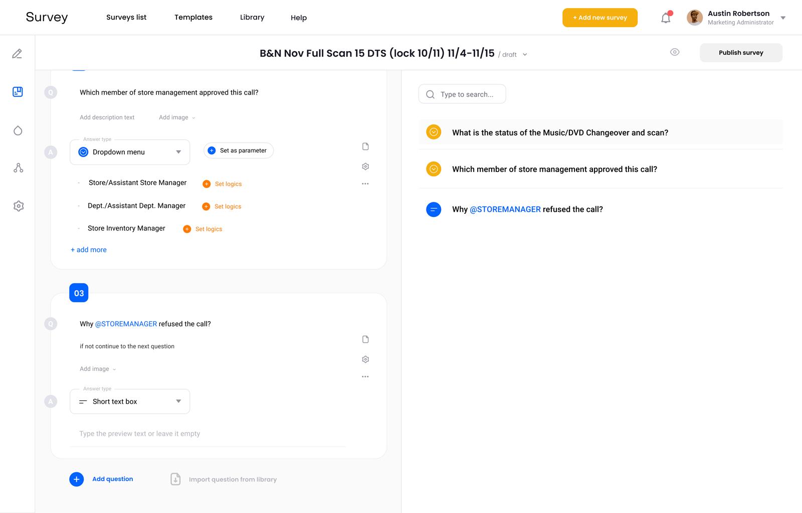 Survey Management System